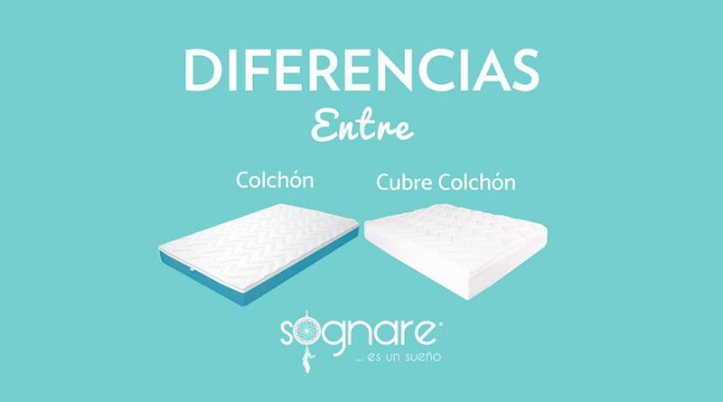 Cubre Colchón y Colchón Sognare®, ¡más diferentes de lo que crees!